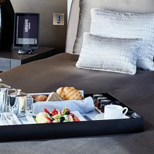 Armani Hotel Room Dubai Breakfast