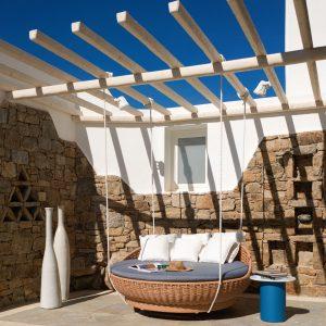 Mykonos Grand Hotel - Library Outdoor