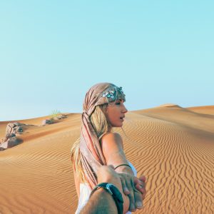 Girl in desert